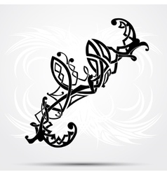 Maori styled tattoo pattern fits for a shoulder or vector