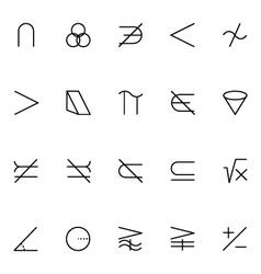 Mathematics icons 5 vector