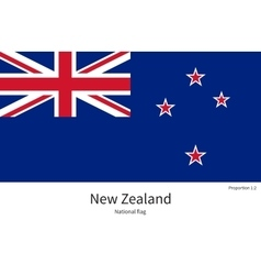 National flag of new zealand with correct vector