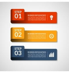 Number banners template for infographics vector