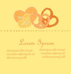 oktoberfest sweets on single piece flyer vector image vector image