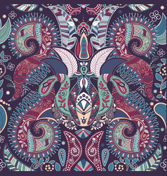 paisley floral seamless pattern indian ornament vector image