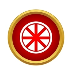 Rays in the circle icon in simple style vector