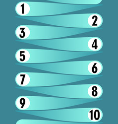template for working process in ten steps light vector image