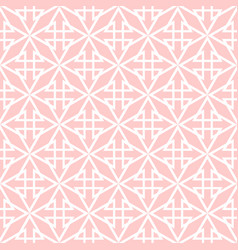 Tile pink and white pattern vector