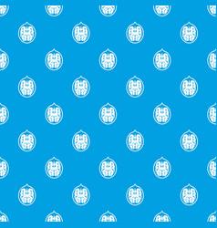 walnut pattern seamless blue vector image