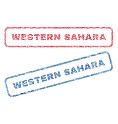 Western sahara textile stamps vector
