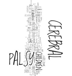Your helpful guide to cerebral palsy text word vector