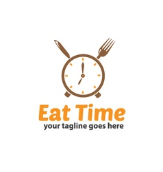 Eat time logo vector