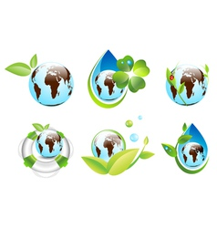 Earth Eco Design Collection vector image