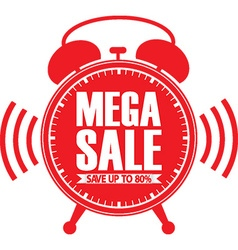 Mega sale red alarm clock vector