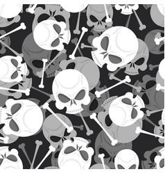skull and bones 3d pattern skeleton ornament vector image