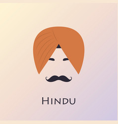 Indian man character vector