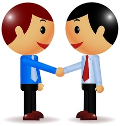 Businessman shake hand vector