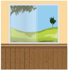 Wall windows vector