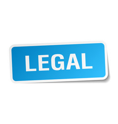 Legal square sticker on white vector