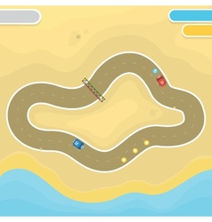 Race game desert landscape vector