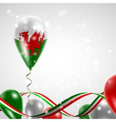 Flag of wales on balloon vector