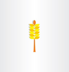Wheat yellow sign icon vector