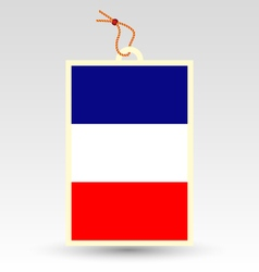 French flag made in tag vector