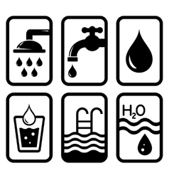 Black water concept symbols vector