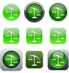 Balance green app icons vector