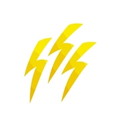 Lightning icon cartoon style vector