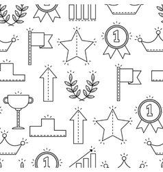 Black and white seamless pattern with icons of vector