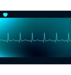 Abstract heart beats cardiogram vector image