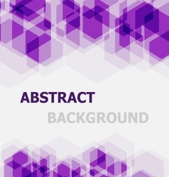 Abstract violet hexagon overlapping background vector