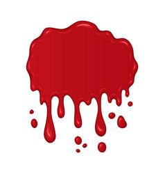 blood splash or drop vector image vector image