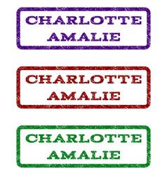 Charlotte amalie watermark stamp vector