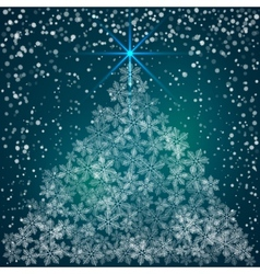 Christmas and New Year Background with snowflakes vector image