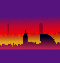 collection of london city building silhouettes vector image vector image