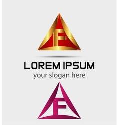 Corporate logo f letter company design vector