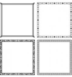 elegant vector frames vector image vector image