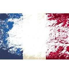 French flag Grunge background vector image vector image