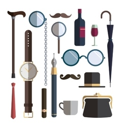Gentleman accessories vector