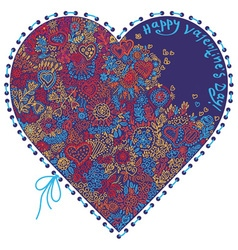 heart patterned vector image vector image