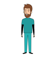 Male surgeon doctor avatar character vector