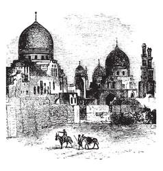 Mamluk tomb vintage vector
