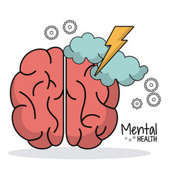 Mental health brainstorm work gear vector