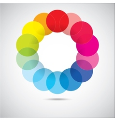 Modern colorful geometrical circles vector image vector image