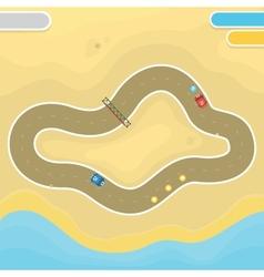 Race game desert landscape vector
