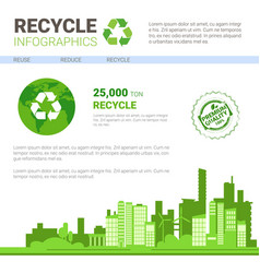 Recycle infographic banner waste gathering sorting vector
