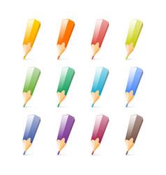 Set of bright color pencils vector