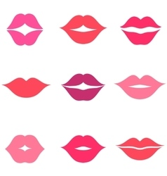 Set of women s lips icons isolated on white vector