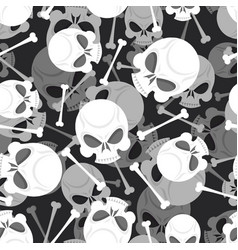 skull and bones 3d pattern skeleton ornament vector image