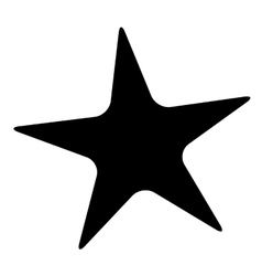 star fish icon image vector image vector image