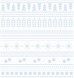 Striped geometric ornament seamless winter pattern vector